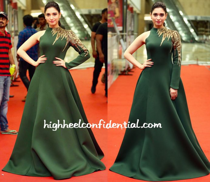 Tamannaah Bhatia In Gaurav Gupta At CineMaa Awards 2016