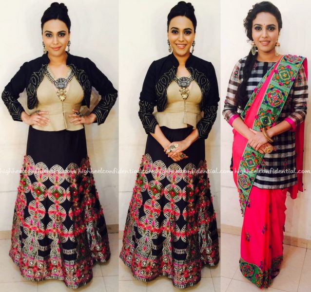 swara bhaskar in rinku sobti on rangoli sets-1