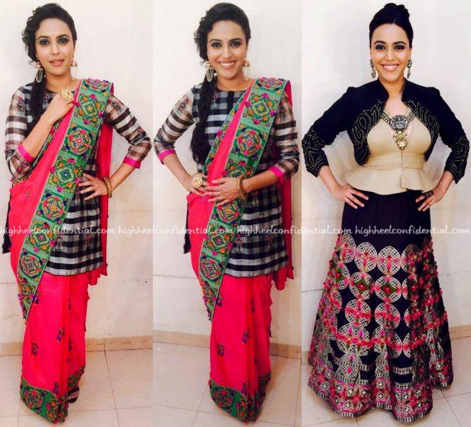 swara bhaskar in rinku sobti on rangoli sets-2