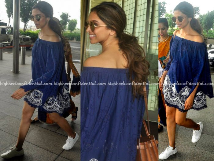 Deepika Padukone (In Hemant And Nandita) Photographed At The Airport-1