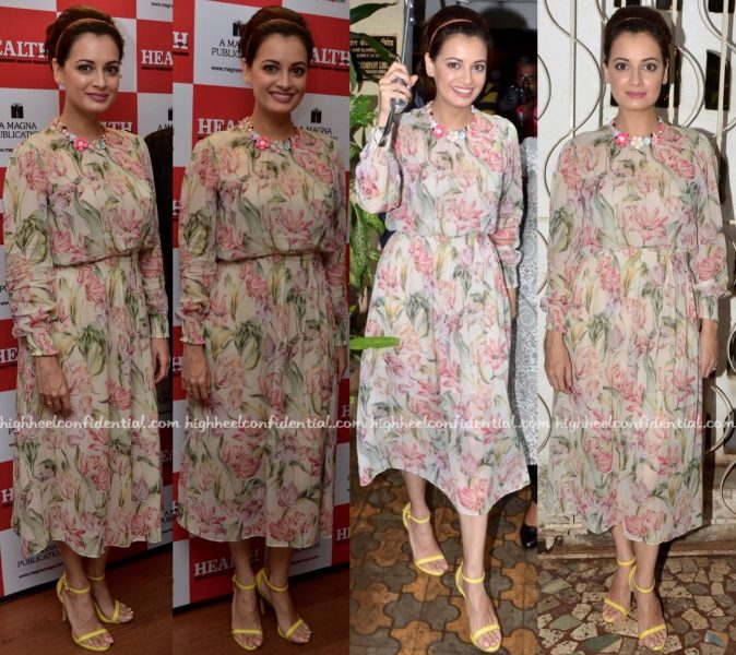 Dia Mirza At Health & Nutrition Magazine Issue Launch:Cover Unveiling-1
