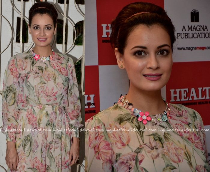 Dia Mirza At Health & Nutrition Magazine Issue Launch:Cover Unveiling-2