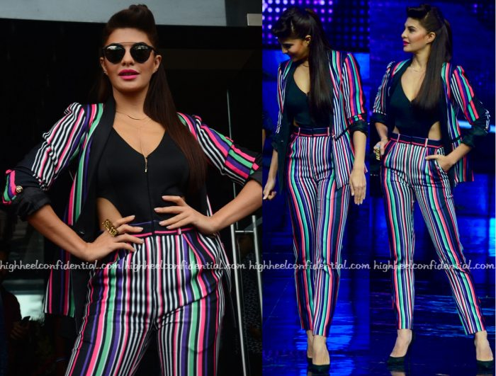 Jacqueline Fernandez Wears Karn Malhotra To Dishoom Promotions-2