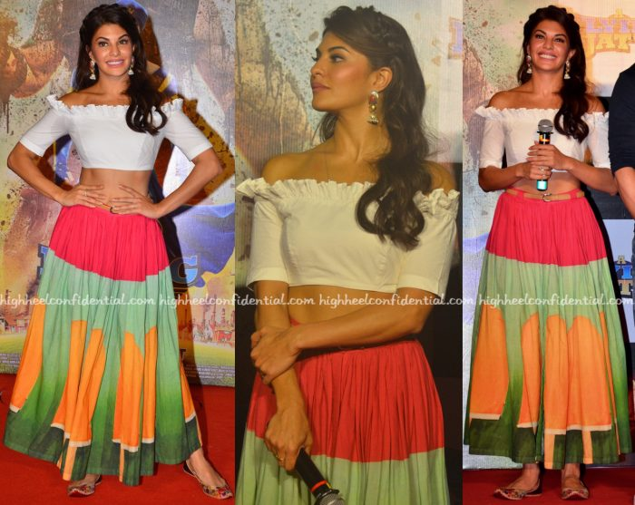 Jacqueline Fernandez Wears Masaba To 'A Flying Jatt' Trailer Launch-1