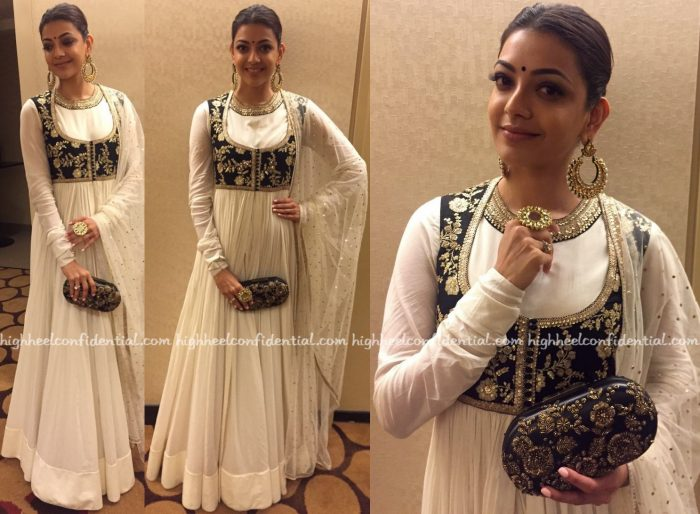 Kajal Aggarwal In Sabyasachi At ATA Event, Chicago-1