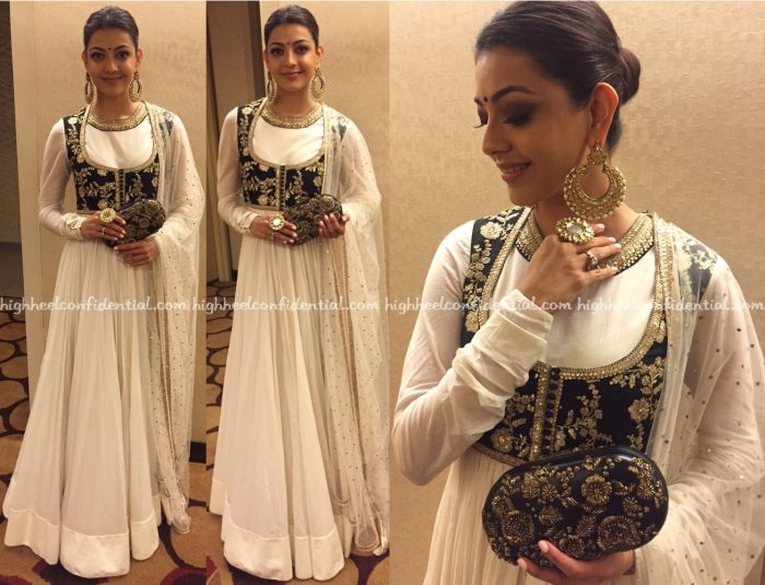 Kajal Aggarwal In Sabyasachi At ATA Event, Chicago-2