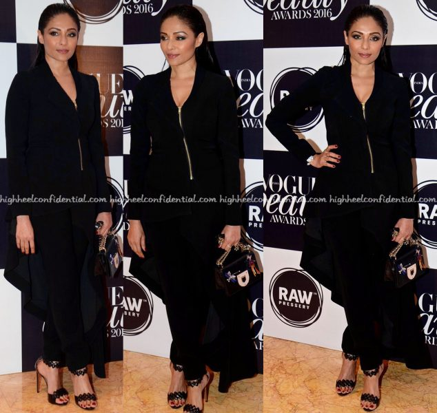 Kalyani Saha In Gaurav Gupta At Vogue Beauty Awards 2016