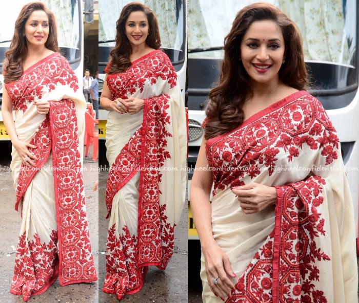 Madhuri Dixit In Manish Malhotra On 'So You Think You Can Dance' Sets-1