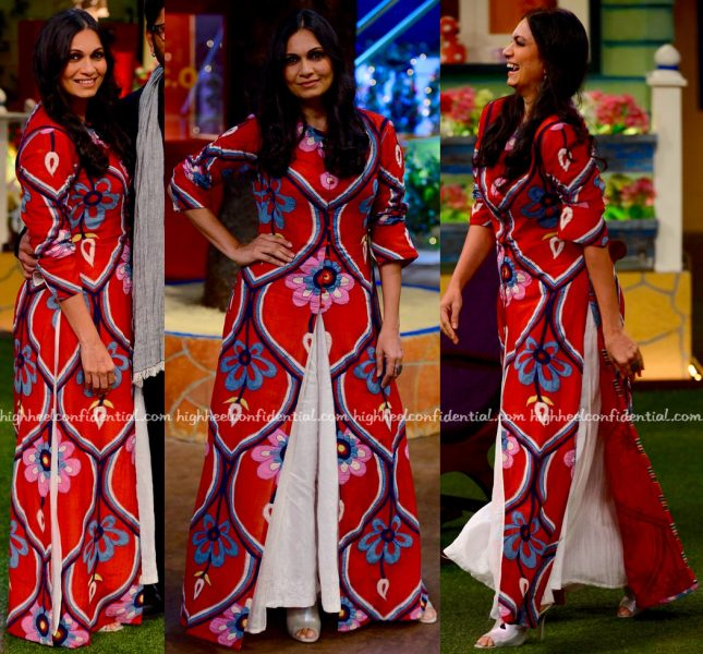 Maria Goretti Wears Swati Vijaivargie To 'The Kapil Sharma Show' Sets-2