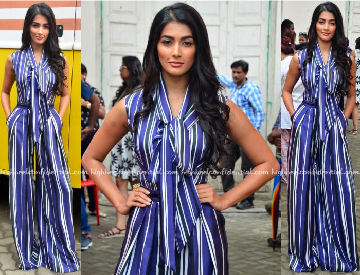 Pooja Hegde Wears Martin Grant To Mohenjo Daro Promotions-1