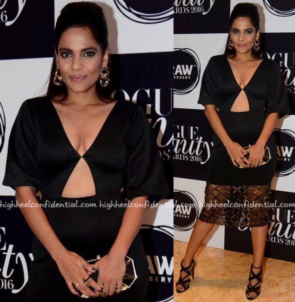 Priyanka Bose In Rhea Pillai Rastogi At Vogue Beauty Awards 2016