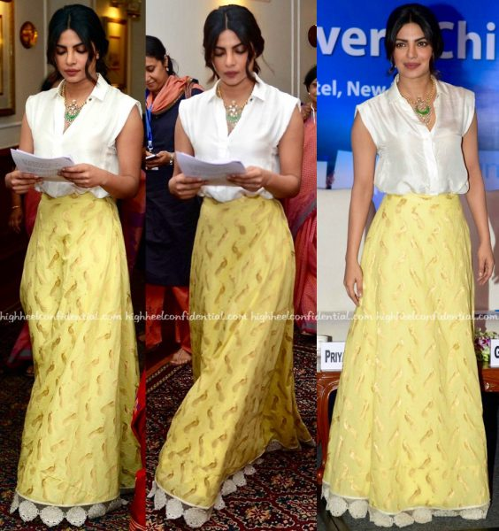 Priyanka Chopra In Payal Khandwala And Jade By Monica And Karishma At Unicef Event-1