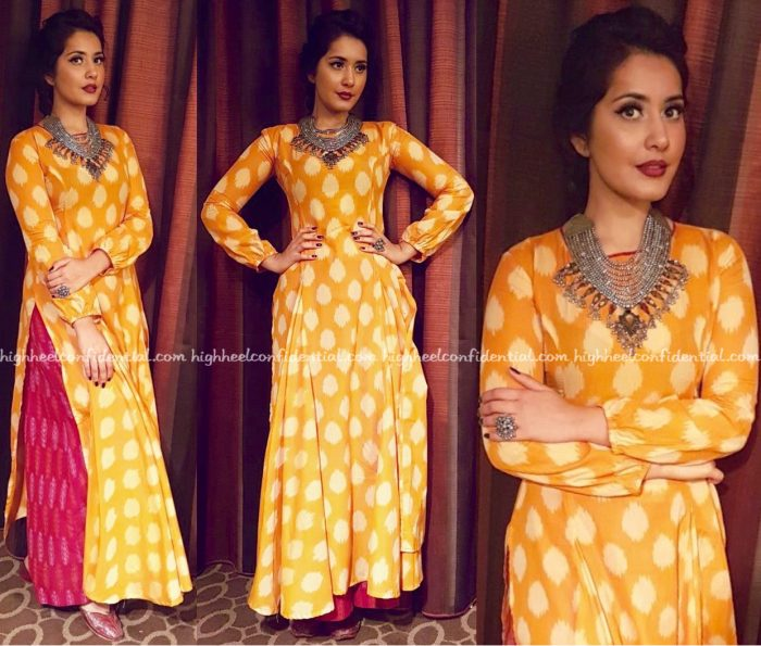 Raashi Khanna Wears Preetham Jukalker To ATA Event, Chicago-1