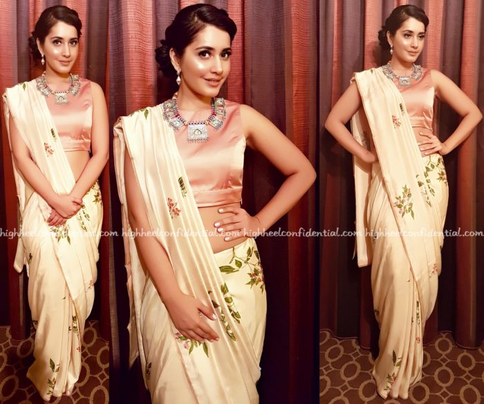 Raashi Khanna Wears Raw Mango And Amrapali To ATA Event In Chicago