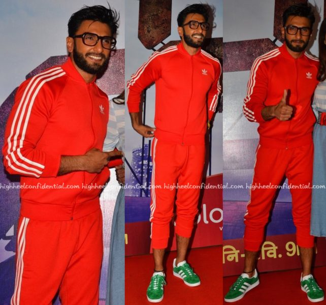 Ranveer Singh In Adidas At 24 promotional event