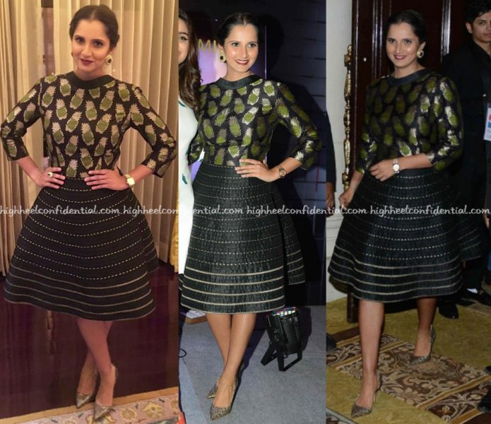Sania Mirza Wears Rinku Sobti To Her Book Launch In Delhi-1
