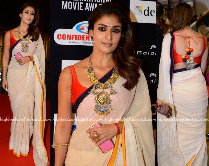 Sari Style- Nayanthara At SIIMA 2016-2