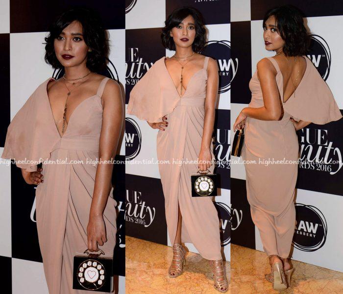 Sayani Gupta In Manika Nanda At Vogue Beauty Awards 2016