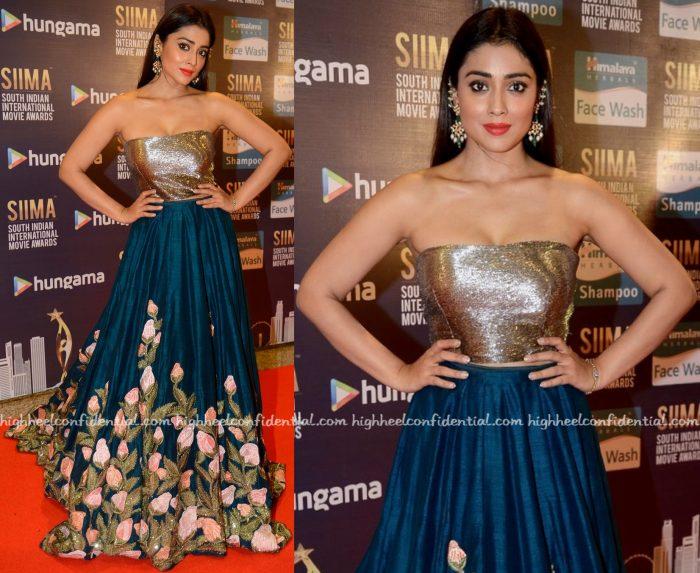 Shriya Saran Wears Manish Malhotra To SIIMA 2016-2