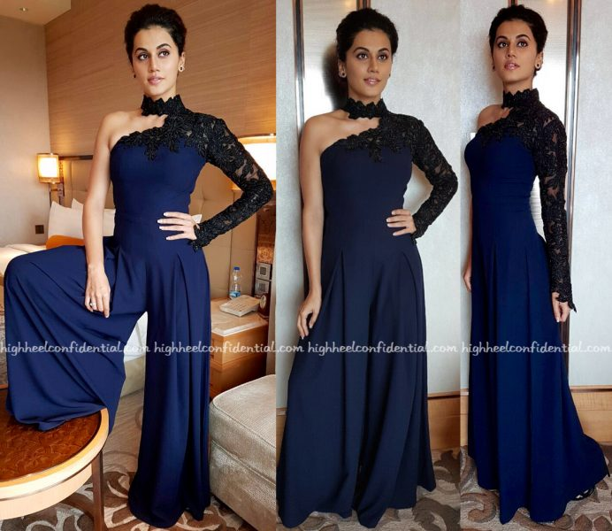 Taapsee Pannu In Mayyur Girotra At Miss Diva Universe Pageant, Bangalore Round-1