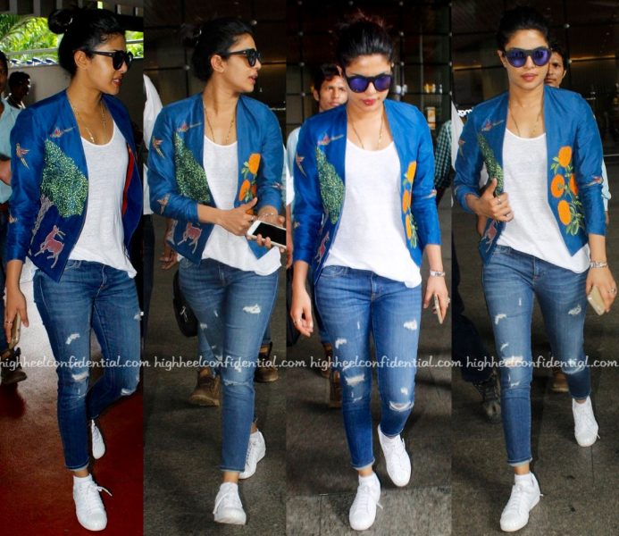 Travel(v)ogue- Priyanka Chopra Photographed In Vineet Rahul At The Airport-1