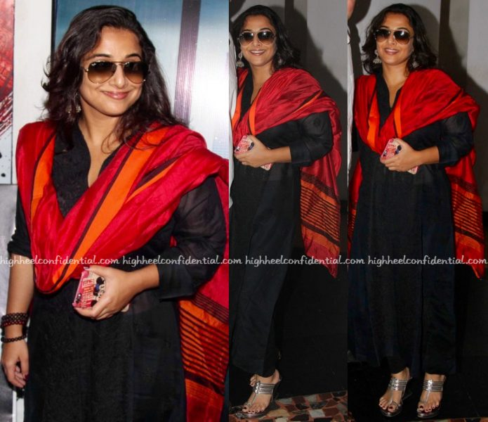 Vidya Balan At Kabali Screening