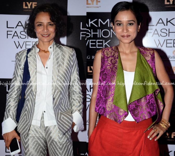 Adhuna Bhabani And Tillotama Shome Attend Payal Khandwala's Show At Lakme Fashion Week Winter:Festive 2016-2