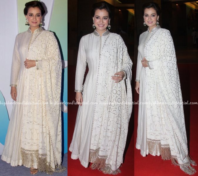 Dia Mirza Wears Diva'ni To Jewellers For Hope 2016 Event-1