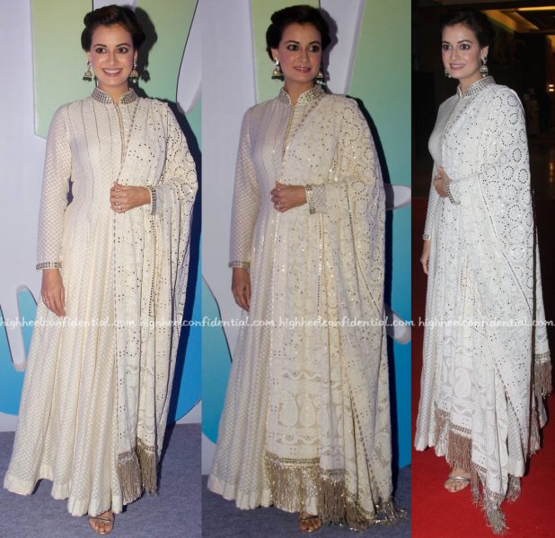 Dia Mirza Wears Diva'ni To Jewellers For Hope 2016 Event-2