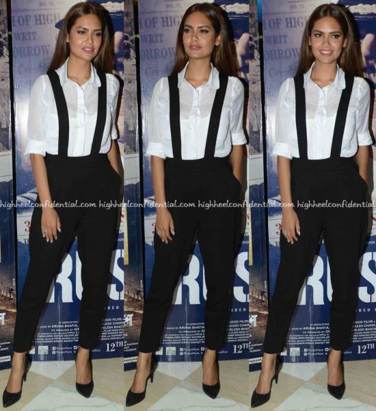 Esha Gupta Wears French Connection To Rustom Promotions In Delhi-1