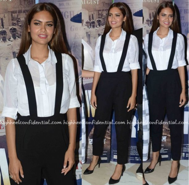 Esha Gupta Wears French Connection To Rustom Promotions In Delhi-2