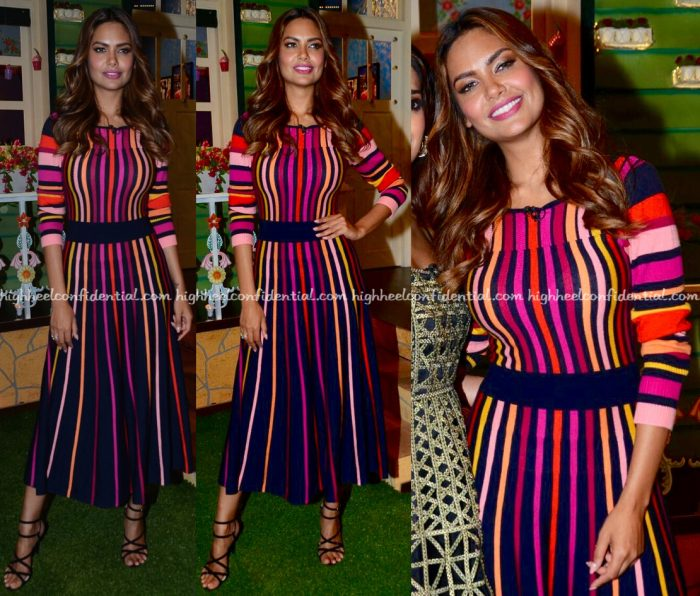 Esha Gupta Wears Temperley To The Kapil Sharma Show Sets For Rustom Promotions-1