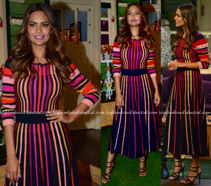 Esha Gupta Wears Temperley To The Kapil Sharma Show Sets For Rustom Promotions-2