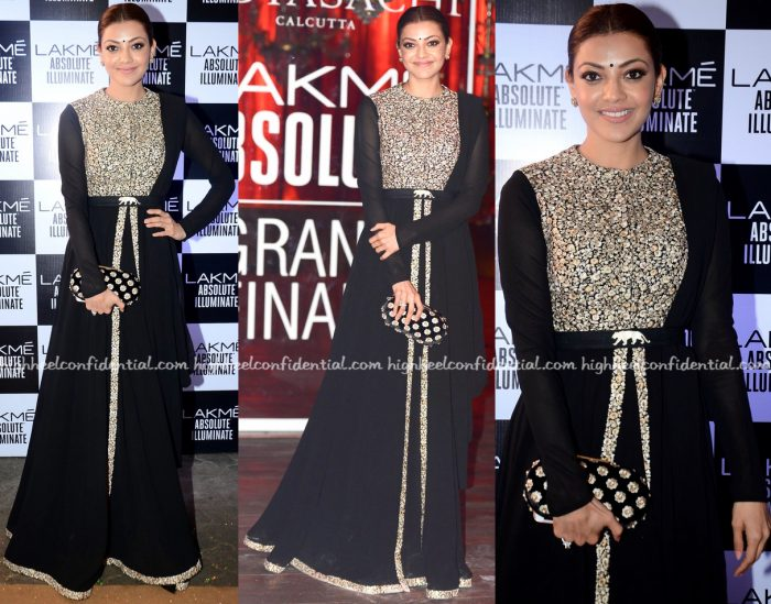 Kajal Aggarwal Attends Sabyasachi's Show At Lakme Fashion Week Winter:Festive 2016