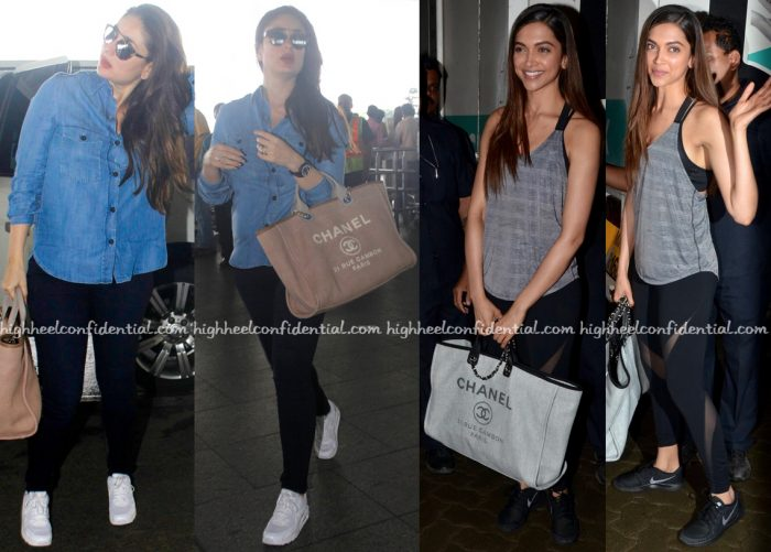Kareena Kapoor Khan And Deepika Padukone Photographed With A Chanel Bag