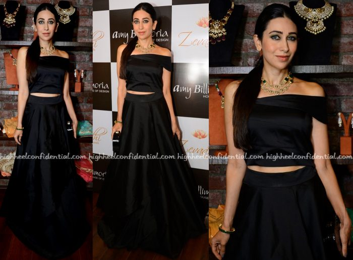 Karisma Kapoor At Amy Billimoria And Zevadhi Jewels Festive Collection Launch