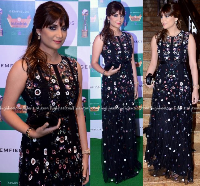 Michelle Poonawala In Needle & Thread At Retailer Jeweller India Awards 2016