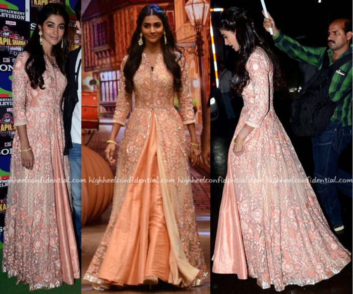 Pooja Hegde Wears Manish Malhotra To 'The Kapil Sharma Show' Sets For Mohenjo Daro Promotions-2