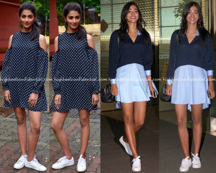 Pooja Hegde Wears Zara To Mohenjo Daro Promotions-2