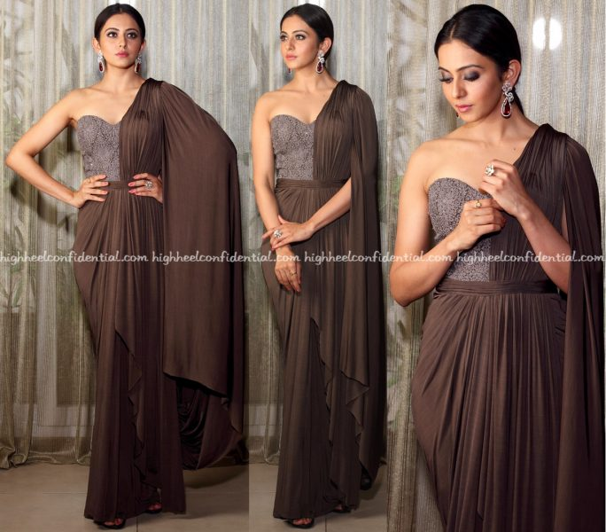Rakul Preet Singh Wears Shantanu & Nikhil To Chiranjeevi's Birthday Celebrations