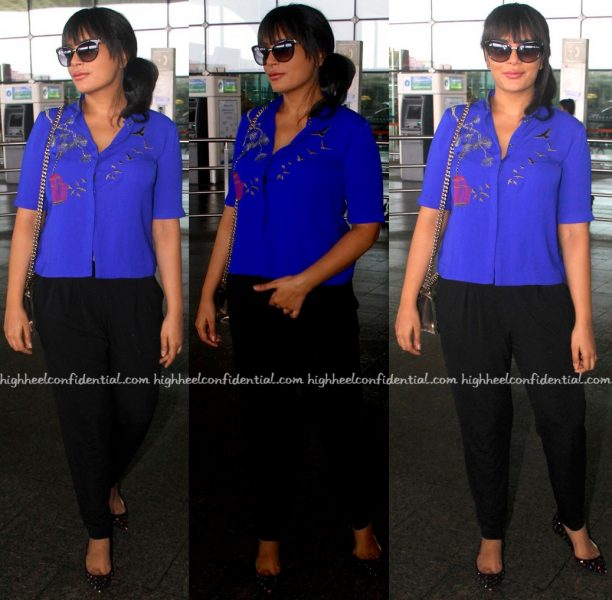 Richa Chadha-Airport