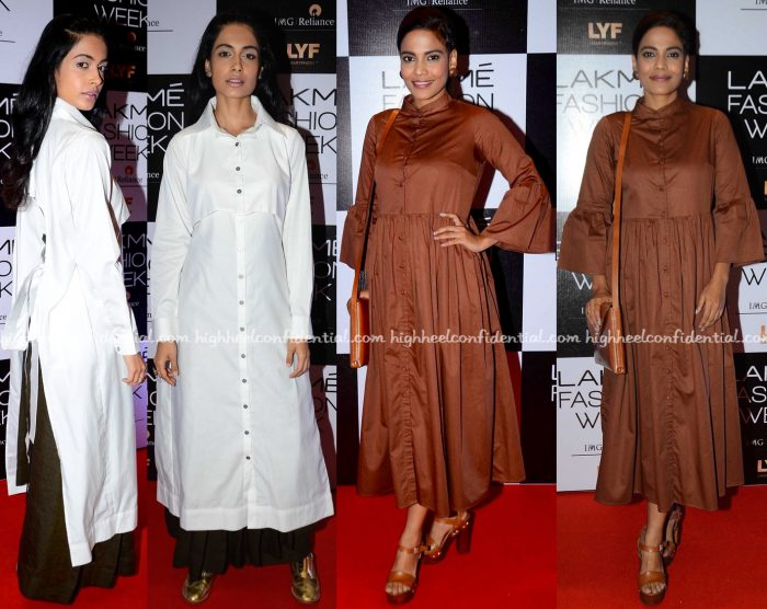 Sarah Jane Dias Photographed In Chola By Sohaya And Priyanka Bose In Cord On Day One Of Lakme Fashion Week