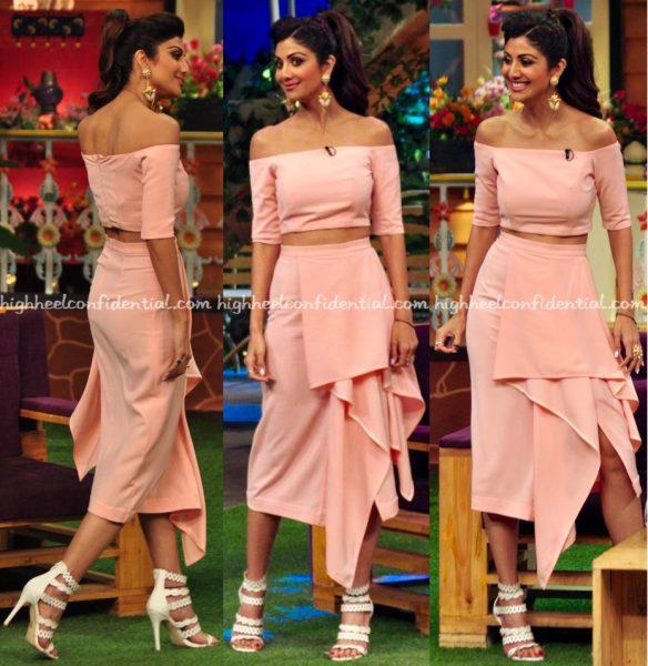 Shilpa Shetty Wears Lola By Suman B To The Kapil Sharma Show Sets-1