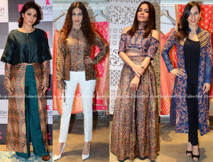 Tanishaa Mukerji, Amyra Dastur, Priyanka Bose And Ramona Arena In Shruti Sancheti At The Designer's Collection Launch At Kashish Infioré-1