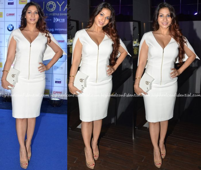 Tanishaa Mukerji In Black Halo At Manasi Scott's Album Launch