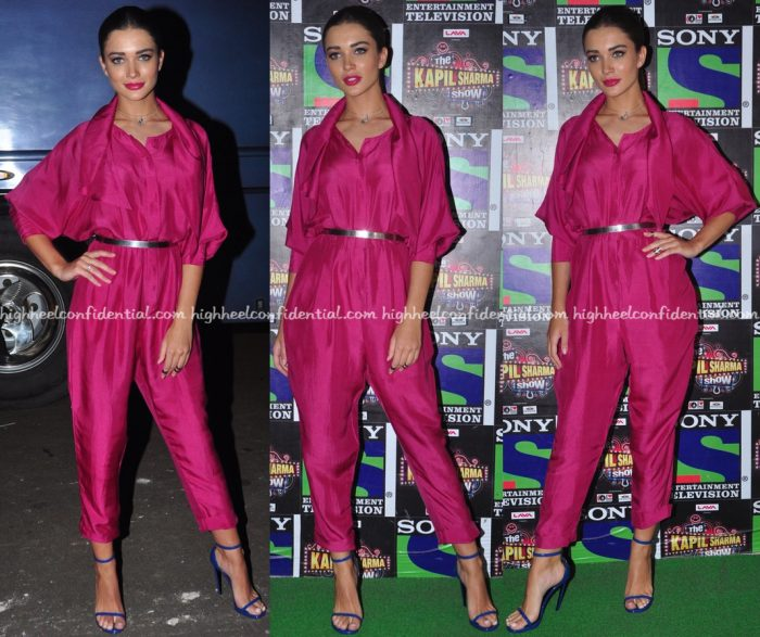 Amy Jackson On 'The Kapil Sharma Show' Sets For 'Freaky Ali' Promotions-1