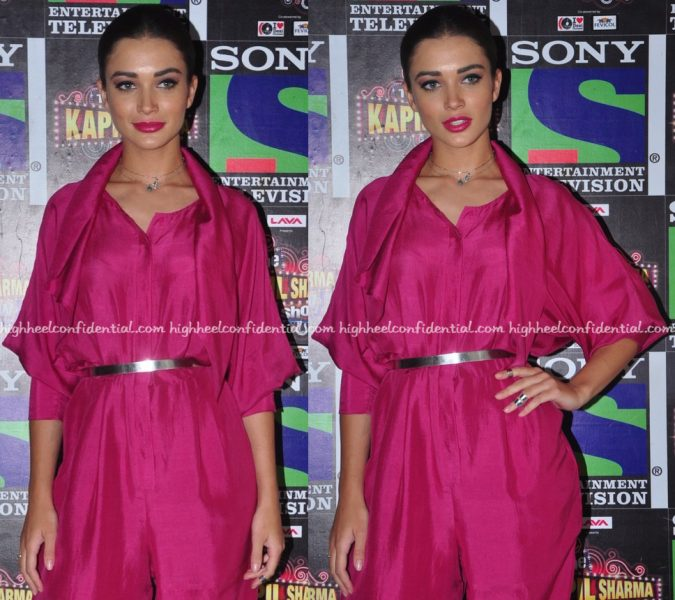 Amy Jackson On 'The Kapil Sharma Show' Sets For 'Freaky Ali' Promotions-2