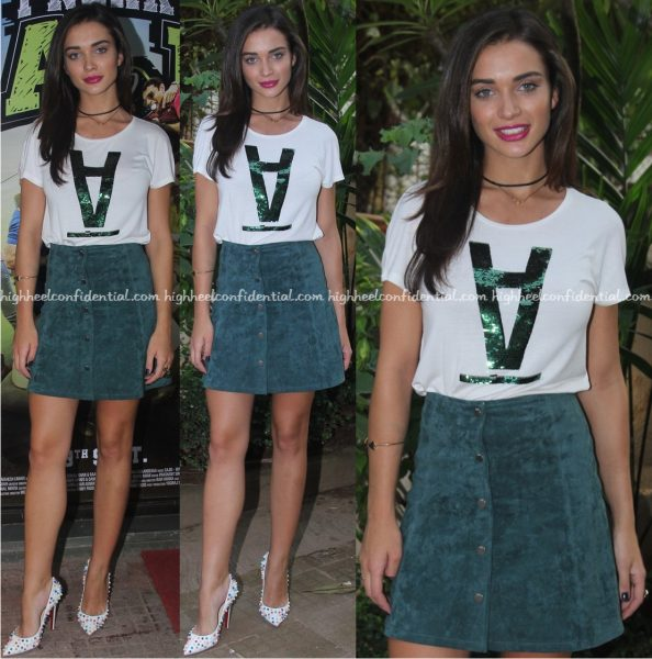 Amy Jackson Wears Only To Freaky Ali Promotions