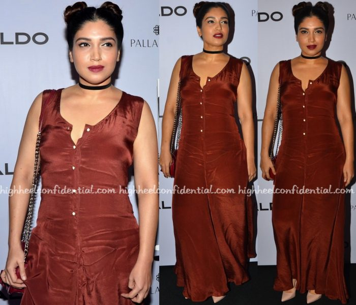 Bhumi Pednekar Wears Cord To Aldo's Fall Collection Preview