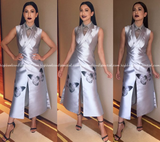 Gauahar Khan Wears Dolly J To Gionee S6 Launch In Raipur